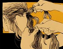 hair braid sketch