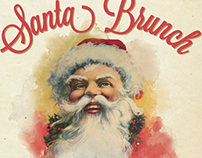 Little America Hotel / Santa Brunch Poster