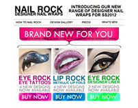 HTML Email design for Rock Cosmetics.