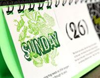 Mitara desk calendar