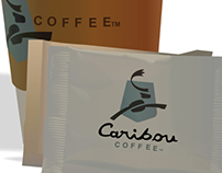Caribou Coffee digital illustration