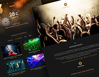 Bangkok Night Light - Web design