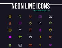 Neon Line Icons PSD