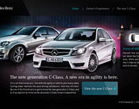 Daimler AG New Generation C-Class Microsite