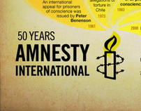 Amnesty International 50th Anniversary Infographics.