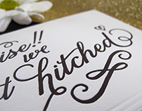 Surprise Elopement Letterpress Announcement