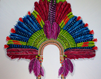 Cocar, indian headress by lorettaeccoart