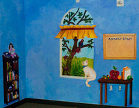 A Missionary's Library Mural