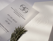 Winter wedding invite and logo