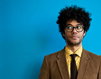Richard Ayoade for the Sunday Times Culture, March 2014