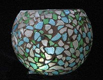 Sea Glass Candle Holder 11 x 40  $ 85.00