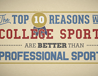 Why College Sports Are Better Than The Pros