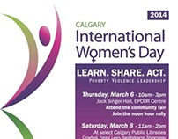 International Women's Day 2014- Calgary Poster