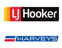 LJ Hooker / Harveys - Graphic Design