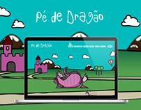 Site em parallax do Pé de Dragão