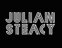 Neomodern font for Julian Steacy.