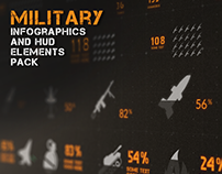 Military Infographics and HUD Elements Pack