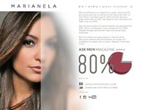 Marianela Pereyra // Promo Site Design / Los Angeles
