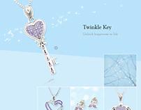 Twinkle Key - Jewelry eShop eDM Design