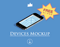 Apple devices mockup- free download