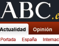 proposal redesign of the newspaper's Web ABC.es