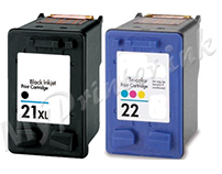 HP 21 XL / 22 XL COMBAO Multipack Remanufactured Ink