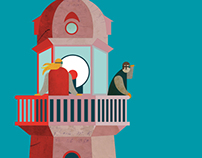 Lighthouse trip illustration