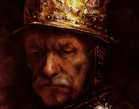 "The Man with Golden Helmet - Copy after ""Rembrandt"""