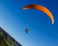 Paragliding over Grands Causses landscape