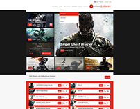 Online Gaming Store Web Design