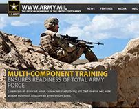 Army.mil Website Concept