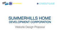 Summerhills Home Development Corp.: Web Design Proposal