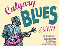 Calgary Blues Fest poster