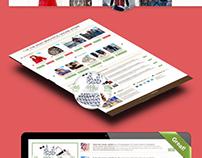 Free E-commerce   Template + FREE PSD FILE