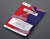 Design of printed materials for the acrobatic federatio
