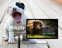 Website Concept for the San Diego Humane Society