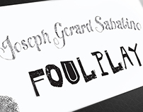 Joseph Gerard Sabatino – Foul Play Invite Postcard