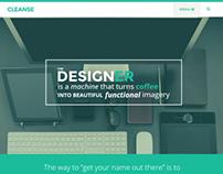 Cleanse - Minimal Style WordPress Portfolio