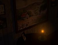 3D Modeled Environment: Dim Hallway