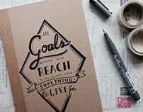 Hand lettered notebooks