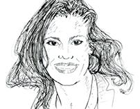 Headshot Illustrations for Author Bios