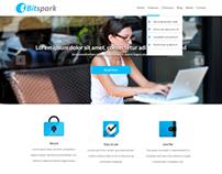 Landing page concept for Bitspark