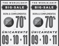 THE WOR{K}SHIP · BIG SALE