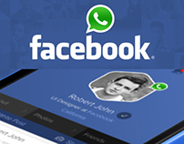 Facebook + WhatsApp Concept
