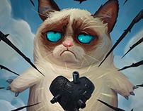 Grumpy Cat Valentine Cat