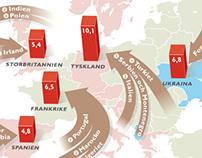 World Map / Refugee movements / Statistics