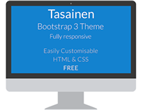 Tasainen Bootstrap 3 Website FREE