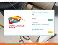 e-COMMERCE WEBSITE: enca fine tailoring