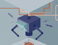 3D Printer Editorial Illustration