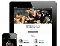 Ciclo Indoor Team UI/UX Web Flat Design